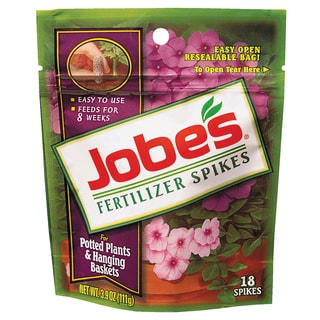 Jobes 6105 Potted Plant & Hanging Basket Fertilizer Spikes 6-18-6