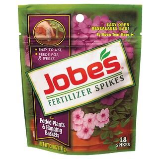 Jobes 6105 Potted Plant & Hanging Basket Fertilizer Spikes 6-18-6