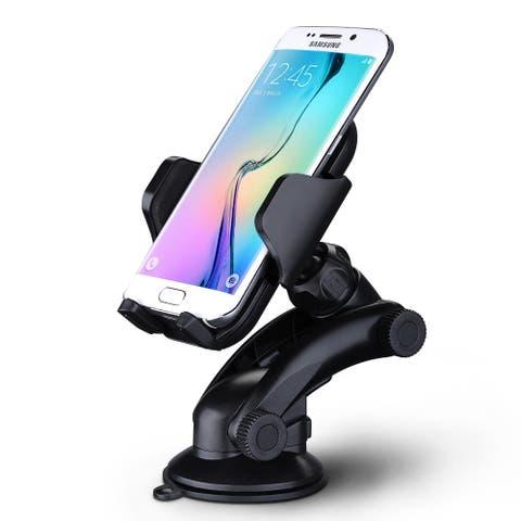 MPow Grip Pro 2 Black Plastic Adjustable Dashboard Car Mount or Windshield Holder Cradle