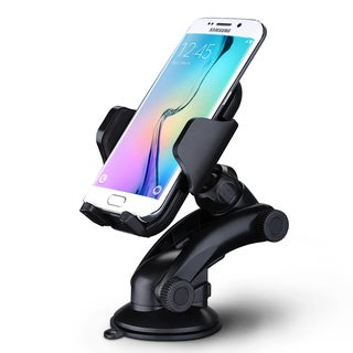 MPow Grip Pro 2 Black Plastic Adjustable Dashboard Car Mount or Windshield Holder Cradle