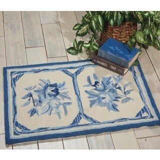 Nourison Country Heritage Ivory/Blue Area Rug (1'9 x 2'9)