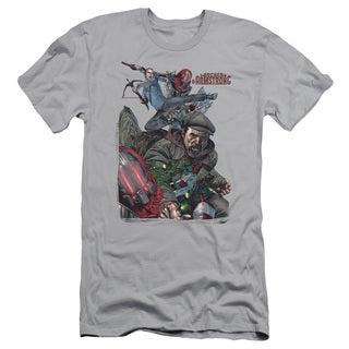 Archer & Armstrong/Bottle Smash Short Sleeve Adult T-Shirt 30/1 in Silver