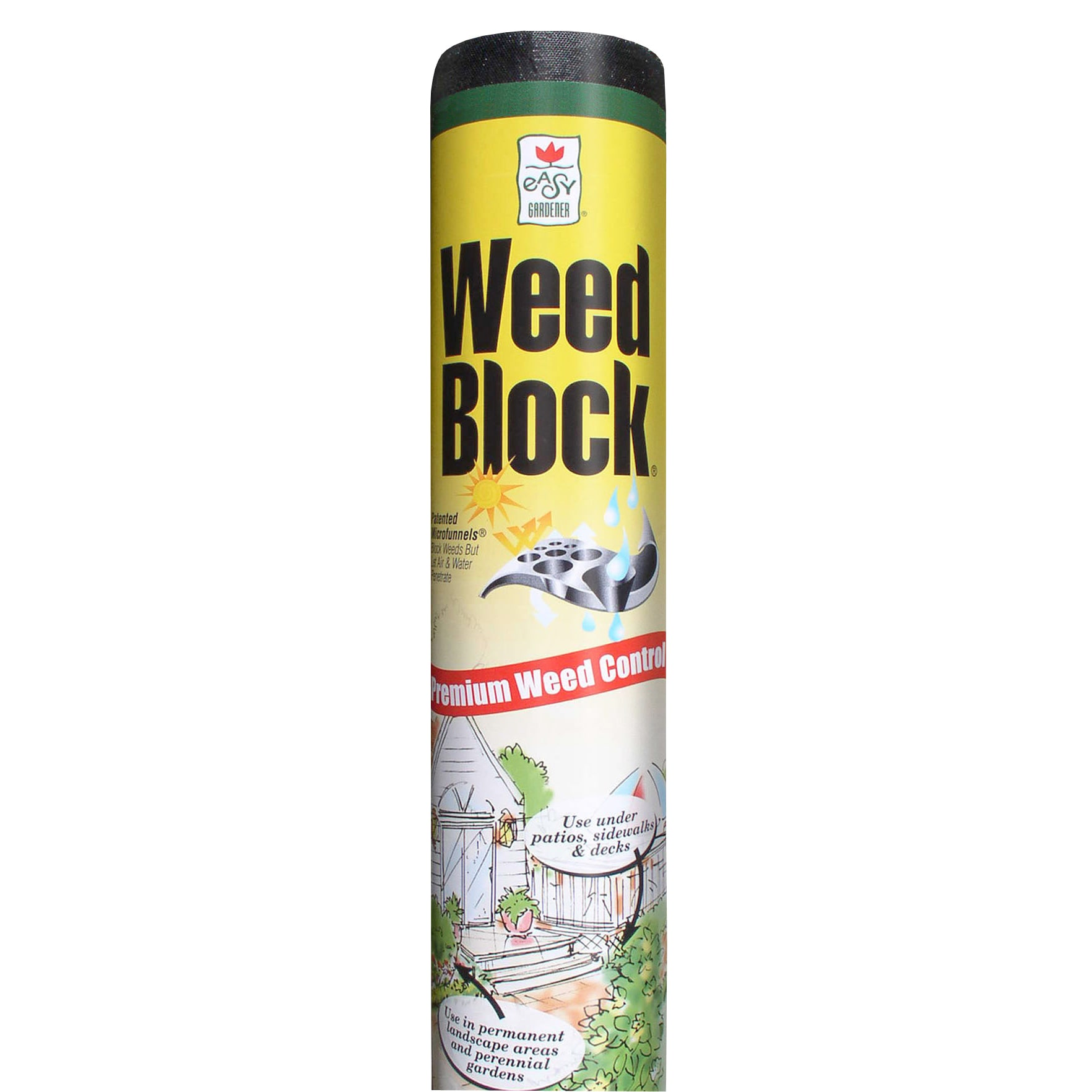 Easy Gardener Weed Block 1051 Weed Landscape Fabric, 3 Ft W X 100 Ft L, Polyethylene, Black