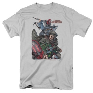 Archer & Armstrong/Bottle Smash Short Sleeve Adult T-Shirt 18/1 in Silver