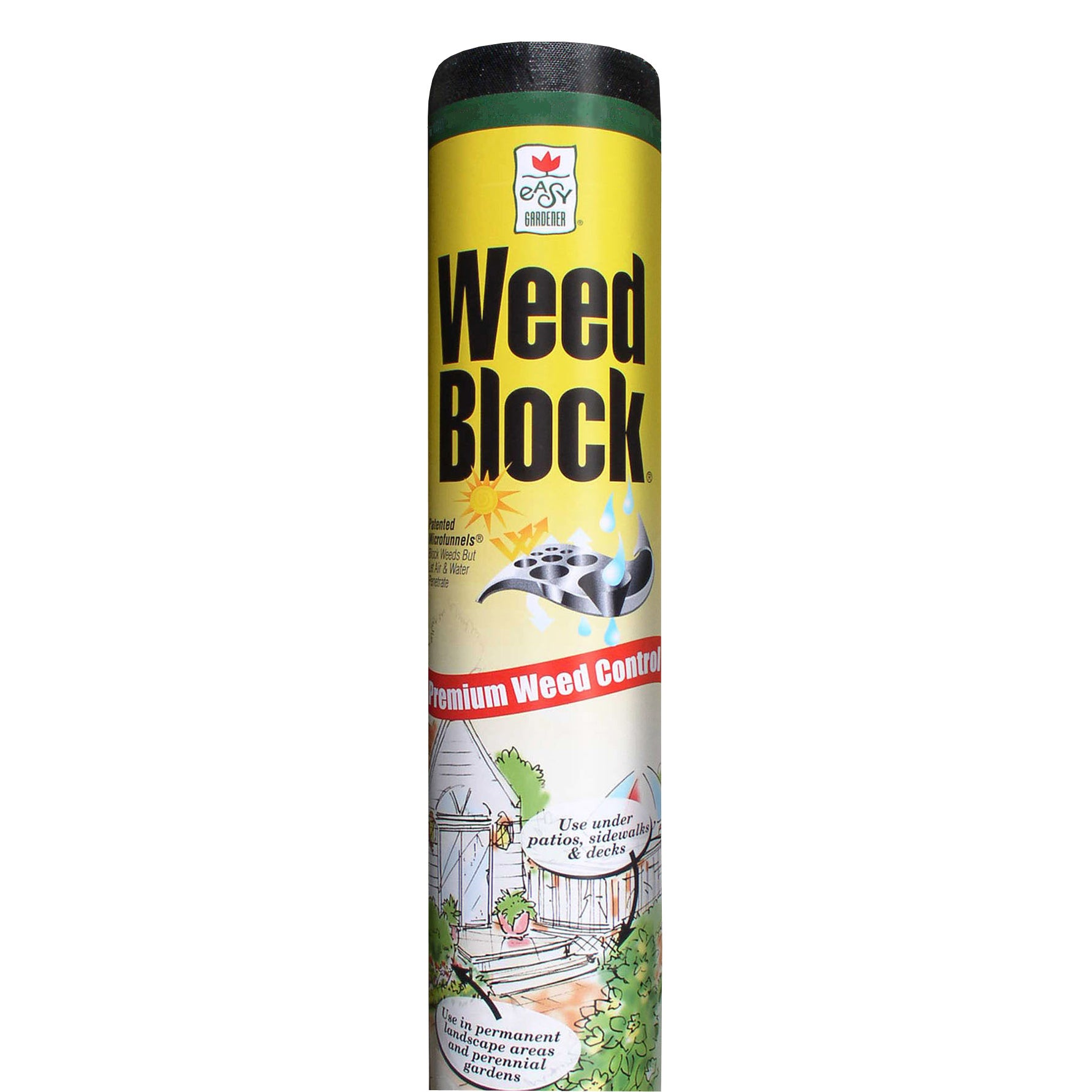 Easy Gardener Weed Block 1071 Weed Landscape Fabric, 6 Ft W X 50 Ft L, Polyethylene, Black