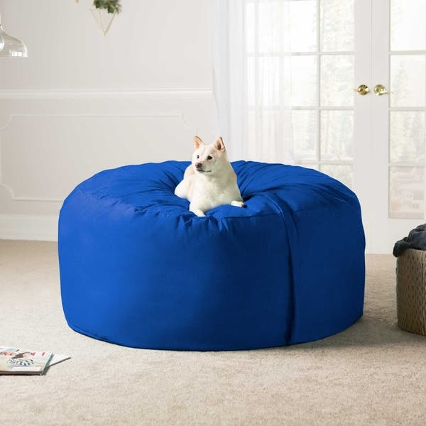 Admirable Shop Jaxx 5 Ft Giant Bean Bag Chair Free Shipping Today Customarchery Wood Chair Design Ideas Customarcherynet