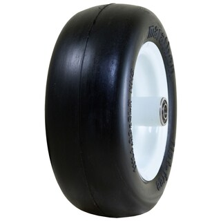 Marathon Industries 01410P 11 X 4.00-5 Inches Smooth Tread Flat Free Lawn Mower Tire