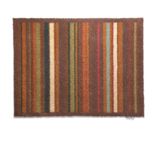 "Hug Rug Eco-Friendly Dirt Trapper Multi Stripe Brown Washable Accent Rug (2'1.5 x 2'9.5) - 2'2"" x 2'10"""