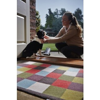 Hug Rug Eco-Friendly Dirt Trapper Color Block Washable Accent Rug (2'1.5 x 2'9.5) - Multi - 2'2 x 3'