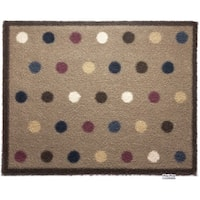 Hug Rug Eco-Friendly Dirt Trapper Spotted Beige Washable Accent Rug (2'1.5 x 2'9.5)