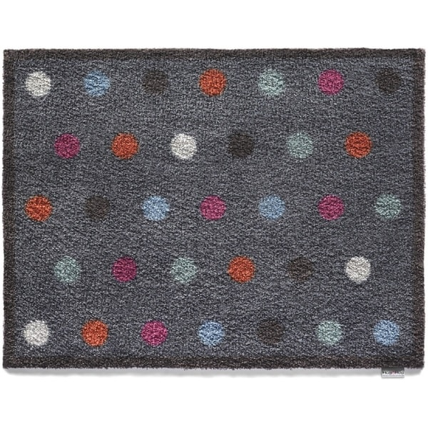 Hug Rug Eco-Friendly Dirt Trapper Spotted Blue Washable Accent Rug (2'1.5 x 2'9.5) - 2'2 x 3'