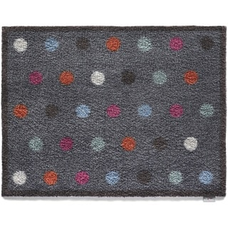 Hug Rug Eco-Friendly Dirt Trapper Spotted Blue Washable Accent Rug (2'1.5 x 2'9.5)