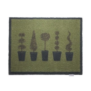 Hug Rug Eco-Friendly Dirt Trapper Potted Topiary Washable Accent Rug (2'1.5 x 2'9.5)