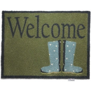 Hug Rug Eco-Friendly Dirt Trapper Wellie Boots Washable Accent Rug (2'1.5 x 2'9.5)