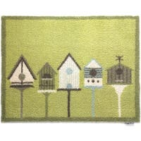 Hug Rug Eco-Friendly Dirt Trapper Bird Houses Washable Accent Rug (2'1.5 x 2'9.5)