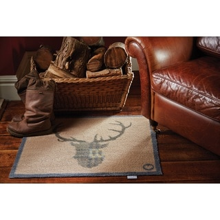 Hug Rug Eco-Friendly Dirt Trapper Buck Beige Washable Accent Rug (2'1.5 x 2'9.5)