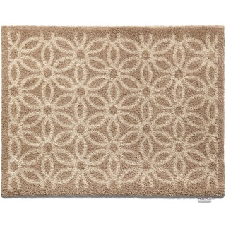 Hug Rug Eco-Friendly Dirt Trapper Daisy Beige Washable Accent Rug (2'1.5 x 2'9.5)