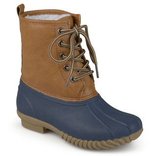 Journee Kids 'Dreena' Lace-up Duck Boots