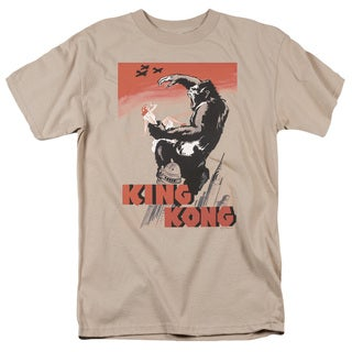 King Kong/ Red Skies Of Doom Short Sleeve Adult T-Shirt 18/1 in Sand