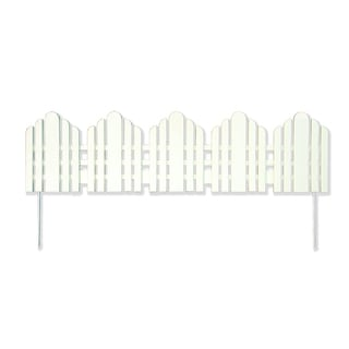 Easy Gardener 861 22 Inches Long x 6 Inches High White Adirondack Landscape Border