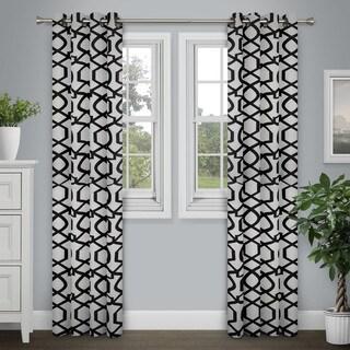 Journee Home 'Zaina' Flocked 84 inch Grommet Top Curtain Panel