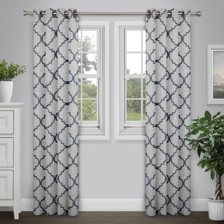 Journee Home 'Rayna' Geometric Print 84 inch Grommet Top Curtain Panel
