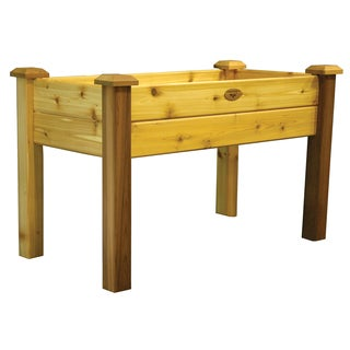 Gronomics EGB 24-48S 24 inches x 48 inches x 30 Inches Natural Western Red Cedar Elevated Bed