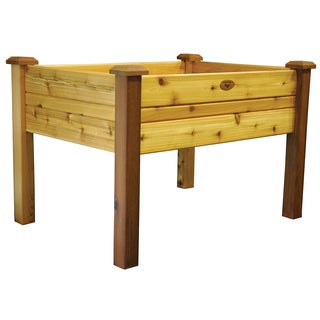 Gronomics EGB 34-48S 34 inches x 48 inches x 32 Inches Natural Western Red Cedar Elevated Bed