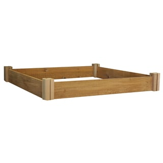 Gronomics MRGM-1L-48-48 48 inches x 48 Inches 1-Level Unfinished Cedar Raised Garden Bed