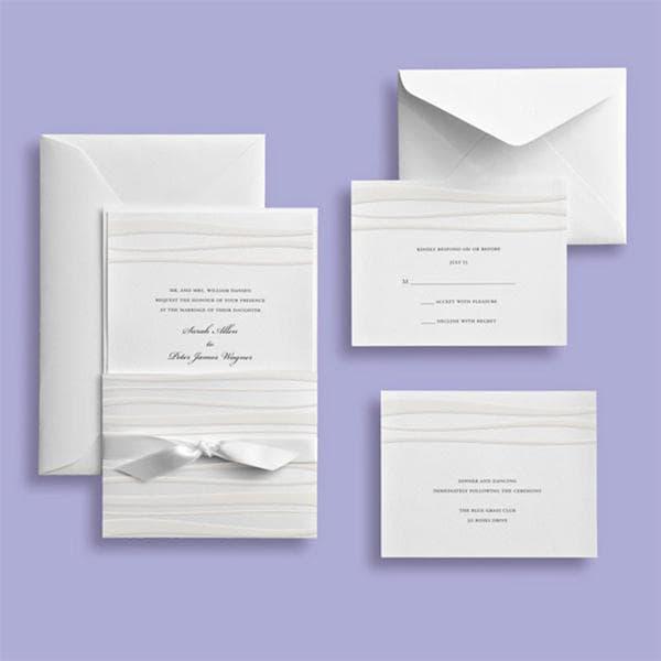 Brides Wedding Invitation Kit: Shop Brides White Waves Embossed Invitation Kit (30 Count