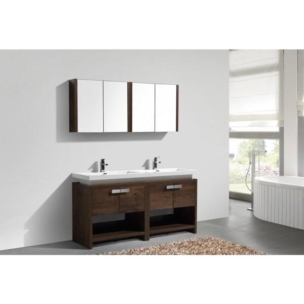 83 Inch Bathroom Vanity kubebath levi 60-inch double sink bathroom vanity - free shipping