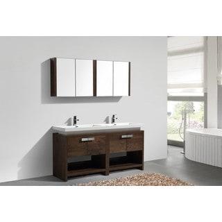 KubeBath Levi 60-inch Double Sink Bathroom Vanity