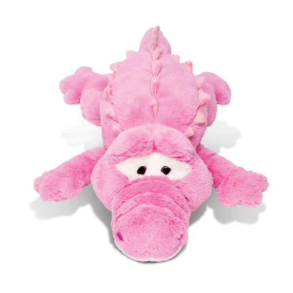Puzzled Plush Pillow Xl Pink Alligator Stuffed Toy