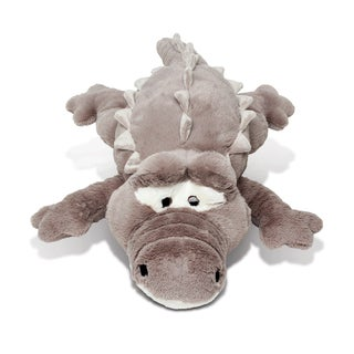 Puzzled Grey Alligator XL Plush Pillow