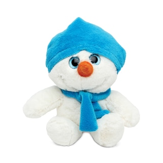 Puzzled Super Soft Blue Snowman Plush Doll