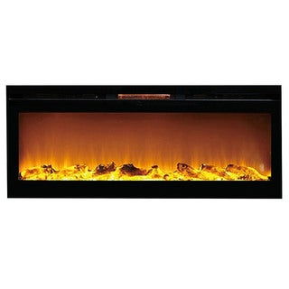 Gibson Living Reno 60-inch Built-In Recessed Home Indoor Wall-mounted Electric Log Fireplace