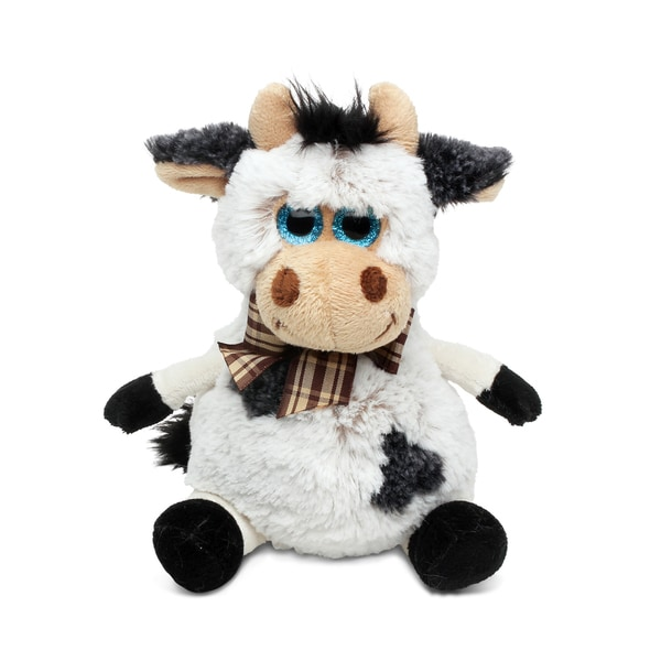 Puzzled Super Soft Plush Sitting Cow