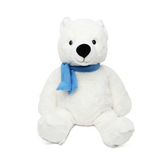 Puzzled Sitting Polar Bear Super Soft Plush Stuffed Animal