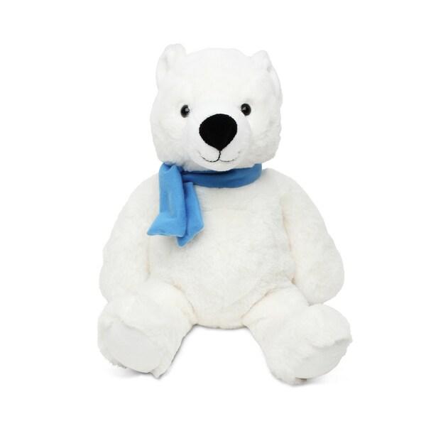 Puzzled Sitting Polar Bear Super Soft Plush Stuffed Animal