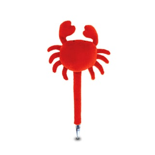 Puzzled Red Crab Plush Pen