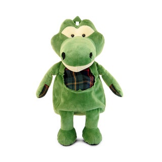 Puzzled Inc Green Plush Backpack Alligator
