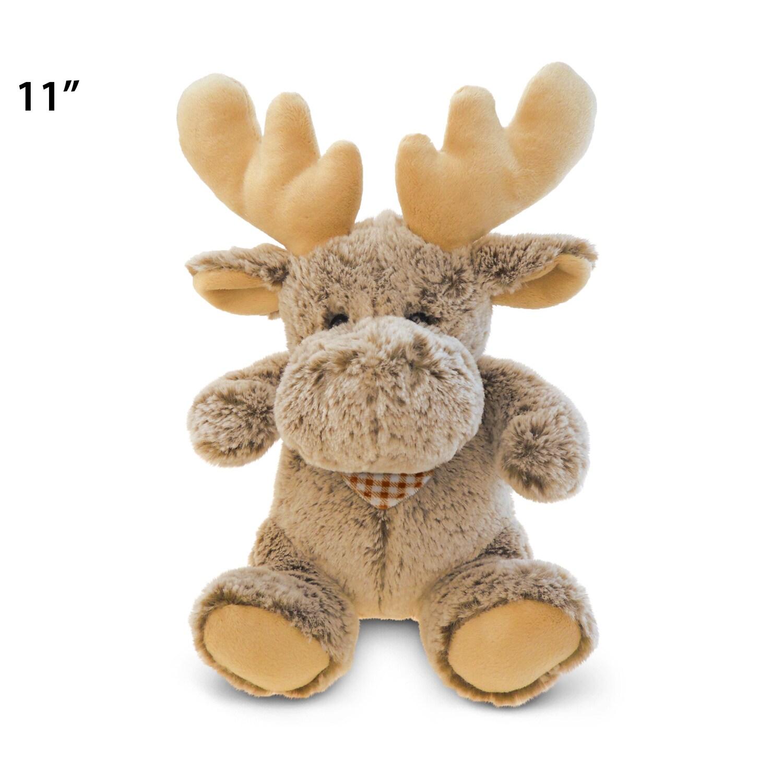 Puzzled Super Soft Sitting Moose Plush Doll (Product size...