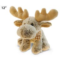 Puzzled Floppy Moose Super Soft Plush