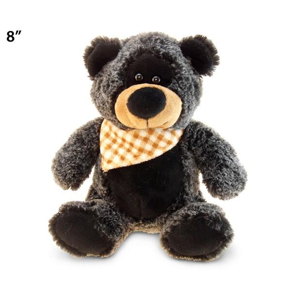 Puzzled Inc Black Super Soft Plush Sitting Teddy Bear