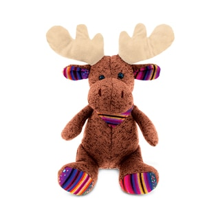 Puzzled Funky Plush Sitting Brown Moose