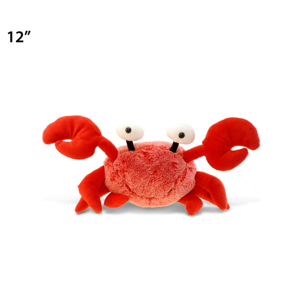 Puzzled Red Plush Crab Toy