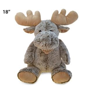 Puzzled Super-soft Plush Sitting Moose Xl Stuffed Toy