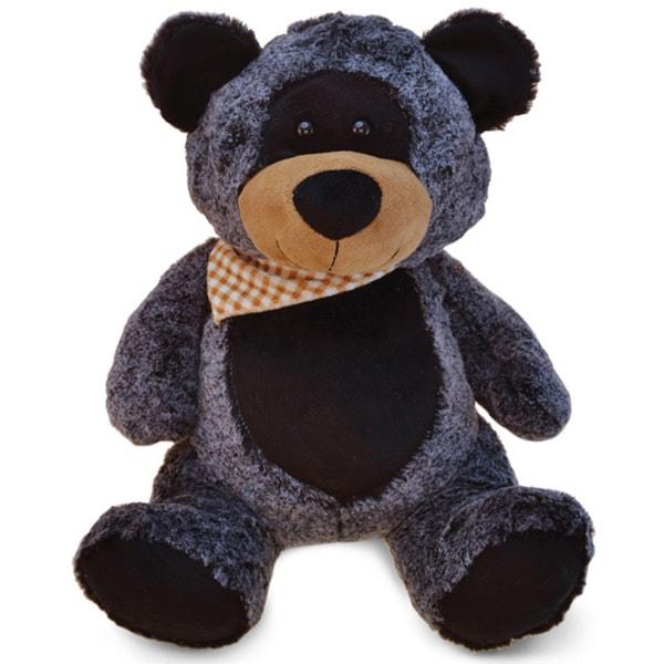 Puzzled XI Black Plush 16-inch Super Soft Sitting Bear