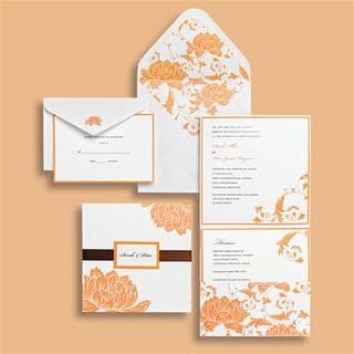 Brides 30-count Orange Pocket Invitation Kit