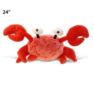 Puzzled Red XL Super-soft Plush Crab